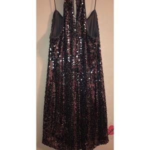 Express charcoal sequence dress